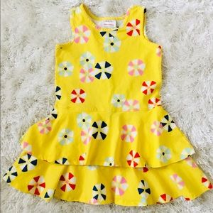 HANNA ANDERSSON Girls size 6/7 Layered Dress